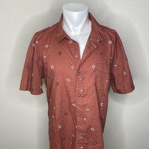 Levis Button Down Shirt Men's Sz XXL Aztec Print